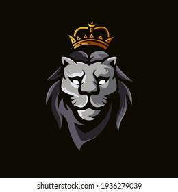 Lion King Mascot Logo Design Illustration Vector