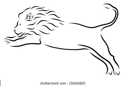 Lion Leaping