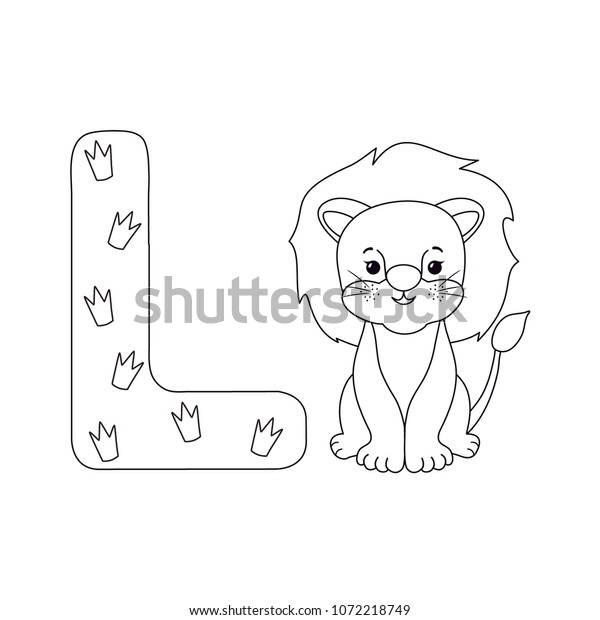 Lion Letter L Kids Alphabet Hand Stock Vector Royalty Free 1072218749 Here are some images of lions tot print and color. https www shutterstock com image vector lion letter l kids alphabet hand 1072218749