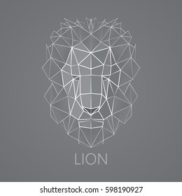 Lion. Linear, triangular lion.
