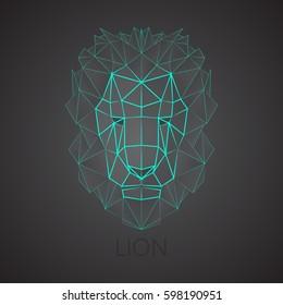 Lion. Linear, triangular lion.