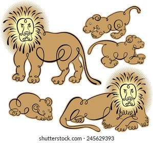 lion and lionet