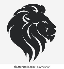 White Outline Lion Silhouette – Lion face tattoo outlines tattoo maze.