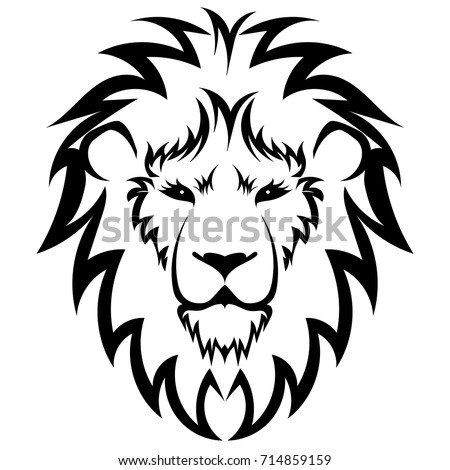 Lion Logo Black White Lion Head Stock Vector Royalty Free