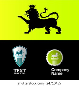 lion and logo compositions