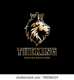 Lion Logo - Crown King Lion Vector