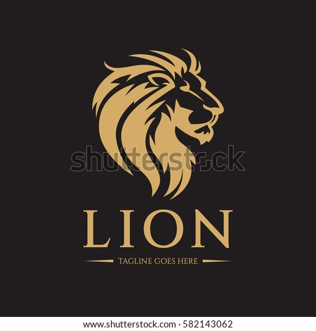 lion logo design template lion head logo vector illustration
