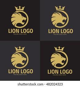 Lion Logo design template ,Lion logo set ,Vector illustration