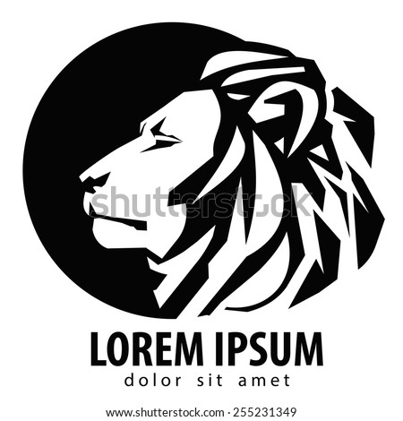 lion logo design template wildlife zoo のベクター画像素材