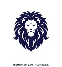 Lion Logo Design Vector Mascot Illustration