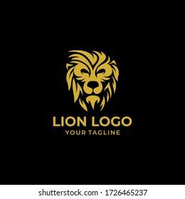 lion logo design vector template