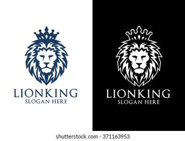lion logo, elegant lion vector logo design