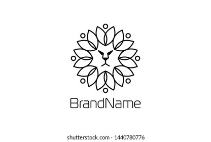 Lion Logo is Formed by Wellness Symbol