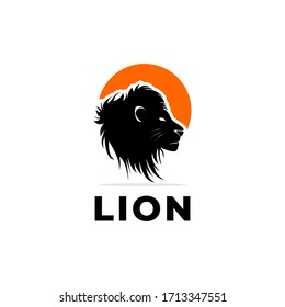 lion logo icon simple design illustration