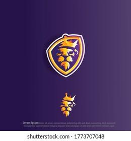 Lion Logo Mascot Or Gaming Logo