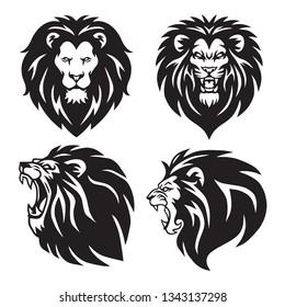 Lion Logo Set Collection. Premium Design Vector Illustration Package