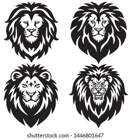 Lion Logo Set Collection. Premium Design Vector Illustration Pack