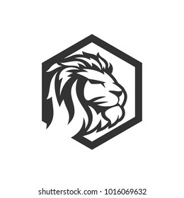 lion logo template のベクター画像素材 ロイヤリティフリー