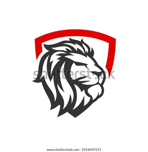 Image Vectorielle De Stock De Modele De Logo Lion 1016069551