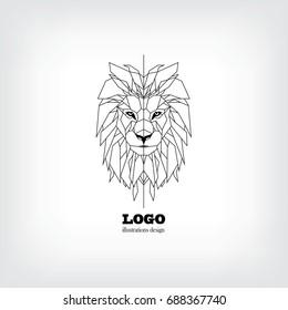 Lion logo vector icon design