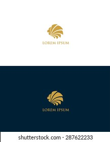 Lion logo - vector illustration