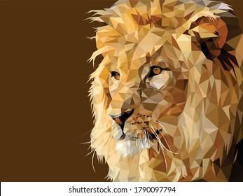 lion low poly vector art