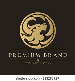 Lion Luxury Logo Template.