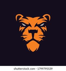 Lion mascot logo template vector - Eps 10