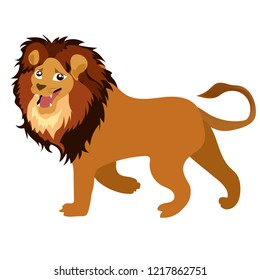 The lion is on a white background.