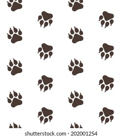 Lion. Paw print. Pattern. Vector illustration