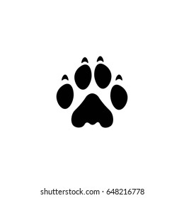 lion paw print vector icon