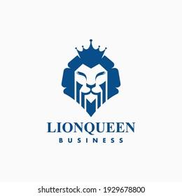 lion queen logo legendary business