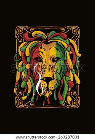 Lion Rasta Full Color