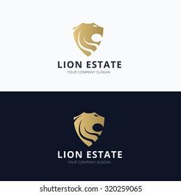 Lion Real estate logo template
