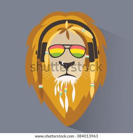 Lion reggae Lion rastafarian