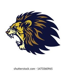 Lion Roaring Logo Vector Esport Mascot Design