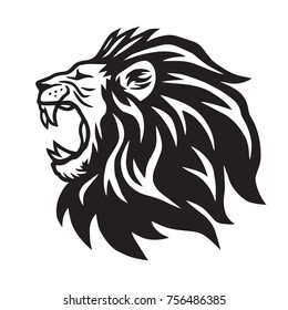 Lion Roaring Vector Icon Logo Template