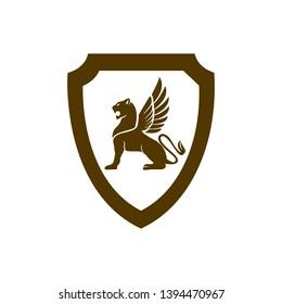 Lion Royal Heraldic Luxury Logo