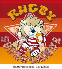 lion rugby cartoon