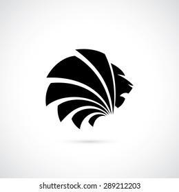 Lion sign - vector illustration