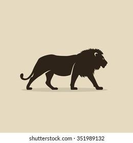 Lion silhouette - vector illustration