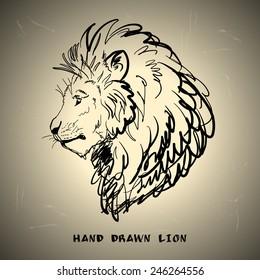 Lion sketch drawing. Vector illustration