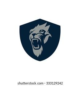 Lion Sport Logo Vector Template