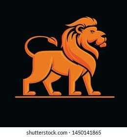 Lion Standing Upright Logo mascot