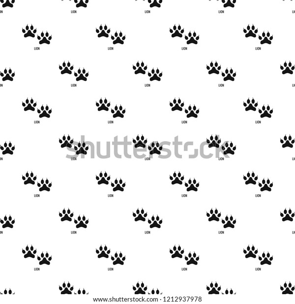 Lion Step Pattern Seamless Vector Repeat Stock Vector (Royalty Free