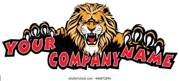 Lion Sticker Logo