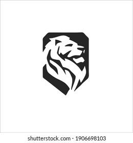 Lion Symbol Logo. Tattoo Design. Vector Illustration.