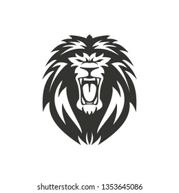 Lion symbol or sign illustration on white background.