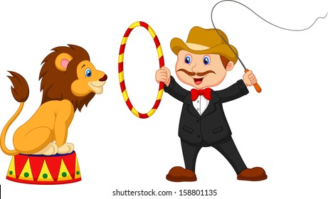 Lion Tamer with lion