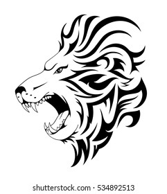 Lion Head Drawing Images Stock Photos Vectors Shutterstock Lion tattoos carry a lot of symbolic meaning and have been in practice for many years. https www shutterstock com image vector lion tattoo design head done tribal 534892513